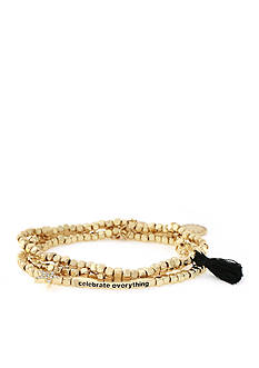 BCBGeneration Gold-Tone Celebrate Everything Stretch Bracelet