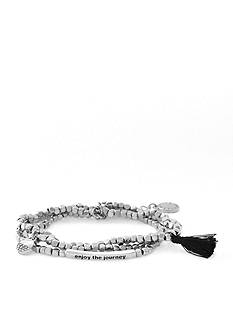BCBGeneration Silver-Tone Enjoy The Journey Stretch Bracelet