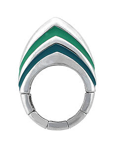 BCBGeneration Teal Chevron Stretch Ring