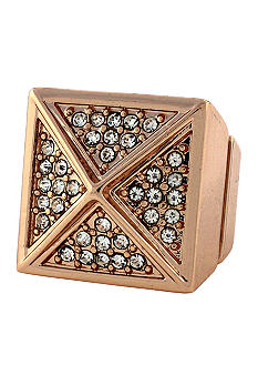 BCBGeneration Rose Gold Vaulted Angles Ring