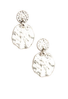 Ruby Rd Post Top Hammered Disc Earring