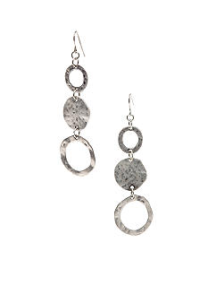 Ruby Rd Hammered Metal Triple Disc Earring