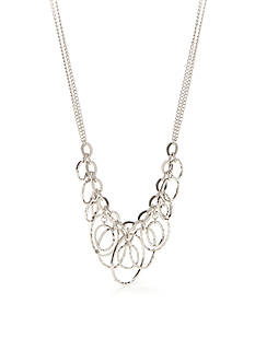 Ruby Rd Silver-Tone Corsica Chain Necklace