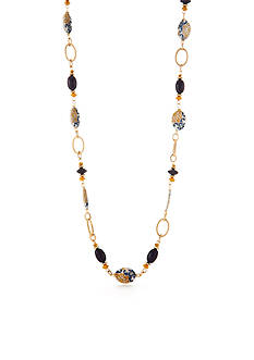 Ruby Rd Gold-Tone Moroccan Gold Long Necklace