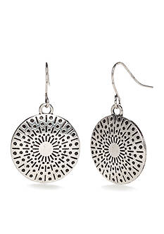 Ruby Rd Metal Discs Drop Earrings