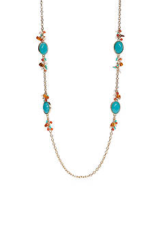 Ruby Rd Gold-Tone Sierra Sunset Strand Necklace