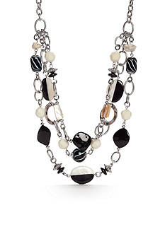 Ruby Rd Silver-Tone Modern Tribes Multistrand Necklace