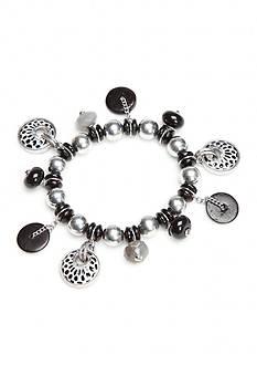Ruby Rd Silver-Tone Modern Tribes Shaky Stretch Bracelet