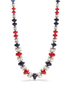 Ruby Rd Silver-Tone Americana Collar Necklace