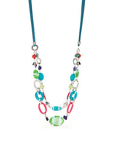Ruby Rd Silver-Tone Tropical Punch Multistrand Necklace