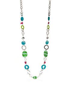 Ruby Rd Silver-Tone Tropical Punch Strand Necklace