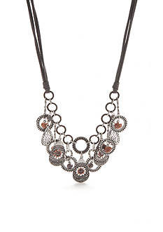 Ruby Rd Silver-Tone Dreamweaver II Collar Necklace