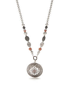 Ruby Rd Silver-Tone Dreamweaver Filigree Pendant Necklace