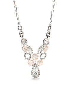 Ruby Rd Two-Tone Dream Weaver Filigree Statement Necklace