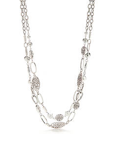 Ruby Rd Silver-Tone Dream Weaver Multistrand Necklace