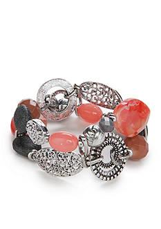 Ruby Rd Silver-Tone Dreamweaver II Stretch Bracelet