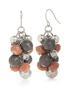 Ruby Rd Silver-Tone Dream Weaver II Cluster Drop Earrings