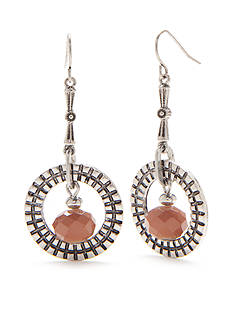 Ruby Rd Silver-Tone Dream Weaver II Ring Drop Earrings