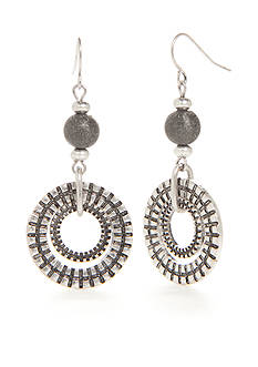 Ruby Rd Silver-Tone Dream Weaver Double Drop Earrings