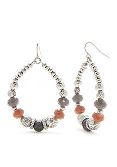 Ruby Rd Silver-Tone Dream Weaver II Gypsy Hoop Earrings