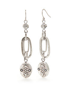 Ruby Rd Silver-Tone Dream Weaver Triple Drop Earrings
