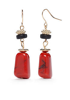 Ruby Rd Gold-Tone Gypsy Caravan Nugget Drop Earrings