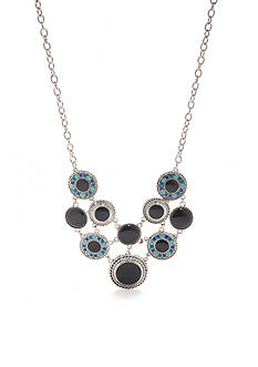 Ruby Rd Silver-Tone Keeping Cool Statement Necklace