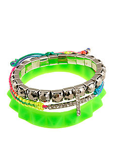 Red Camel Green 3 Piece Bracelet Set