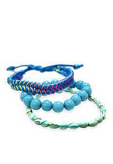Red Camel Blue Multi Trio Bracelet