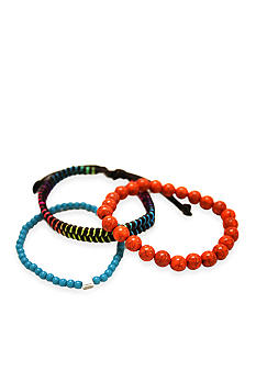 Red Camel Orange Multi Trio Bracelet