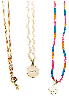 Red Camel 3 Piece Charm Necklace