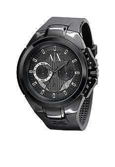 Armani Exchange AX Mens Black-Dial Chronograph Watch
