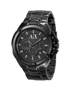 Armani Exchange AX Black Stainless Steel Bracelet Chronograph Watch