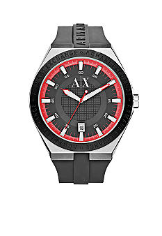 Armani Exchange AX Men's Active Grey Watch With Red Accents
