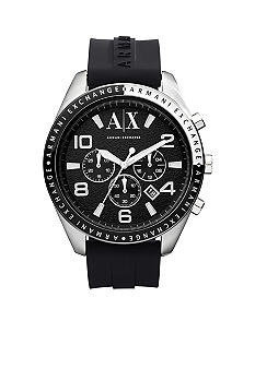 Armani Exchange AX Men's Black Silicone Strap Zacharo Chronograph Watch