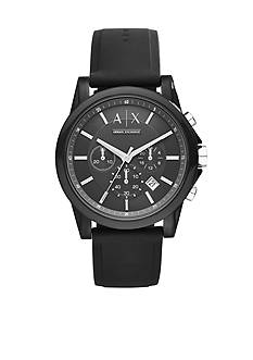 Armani Exchange AX Men's Active Black Silicone Strap Chronograph Watch