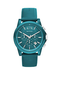 Armani Exchange AX Unisex Active Teal Silicon Chronograph Watch