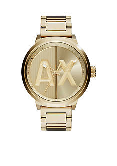 Armani Exchange AX Men's Street Gold-Tone Stainless Steel 3 Hand Watch