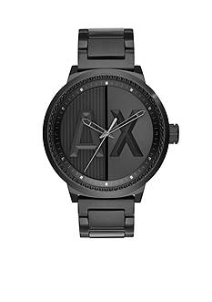 Armani Exchange AX Men's AX Street Black IP Stainless Steel Watch
