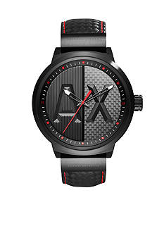 Armani Exchange AX Men's Street Leather 3 Hand Watch