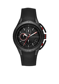 Armani Exchange AX Men's Black Silicone Chronograph Watch