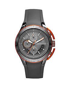 Armani Exchange AX Men's Grey Silicone Chrongraph Watch