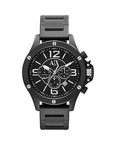 Armani Exchange AX Men's Black IP Stainless Steel Chronograph Watch