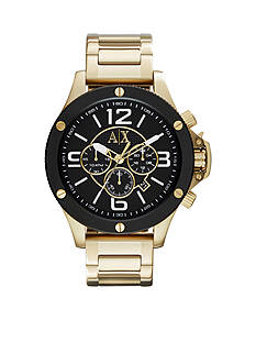 Armani Exchange AX Men's Gold-Tone Stainless Steel Chronograph Watch