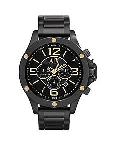 Armani Exchange AX Men's Black Stainless Steel Chronograph Watch