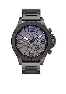 Armani Exchange AX Men's Gunmetal Stainless Steel Chronograph Watch