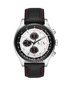 Armani Exchange AX Men's Active Leather Chronograph Watch