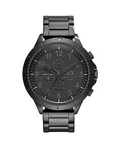 Armani Exchange AX Men's Street Black IP Stainless Steel Chronograph Watch