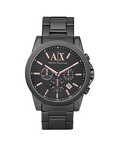 Armani Exchange AX Men's Grey Stainless Steel Bracelet