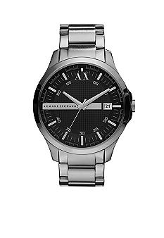 Whitman Classic Stainless Steel Men's Watch with Black Dial